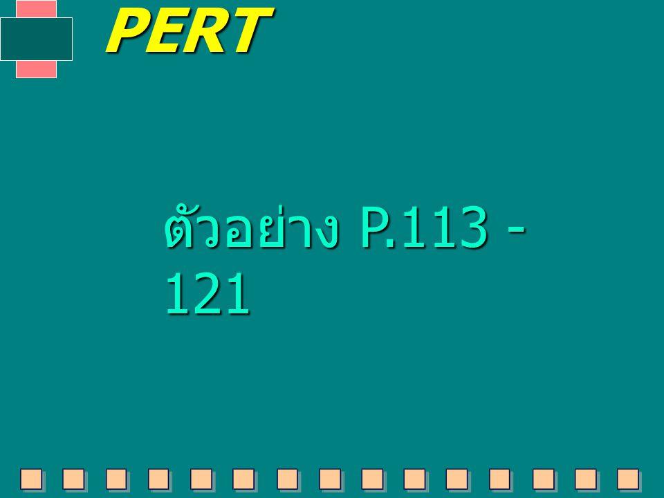 PERT ตัวอย่าง P.113 - 121