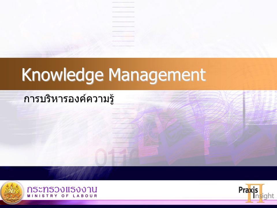 Knowledge Management การบริหารองค์ความรู้