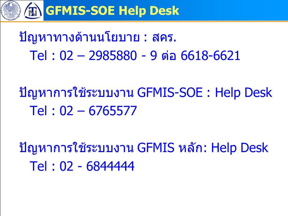 ปัญหาทางด้านนโยบาย : สคร. Tel : 02 – 2985880 - 9 ต่อ 6618-6621