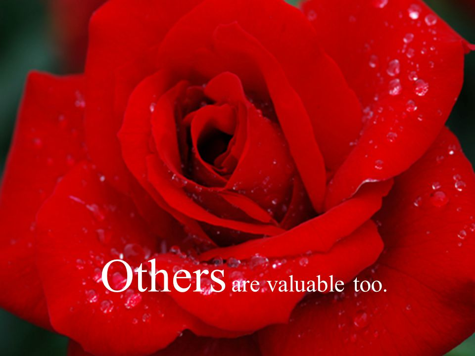 Others are valuable too.
