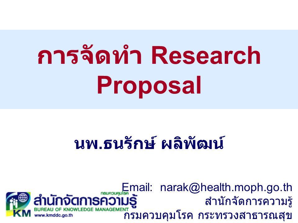 การจัดทำ Research Proposal
