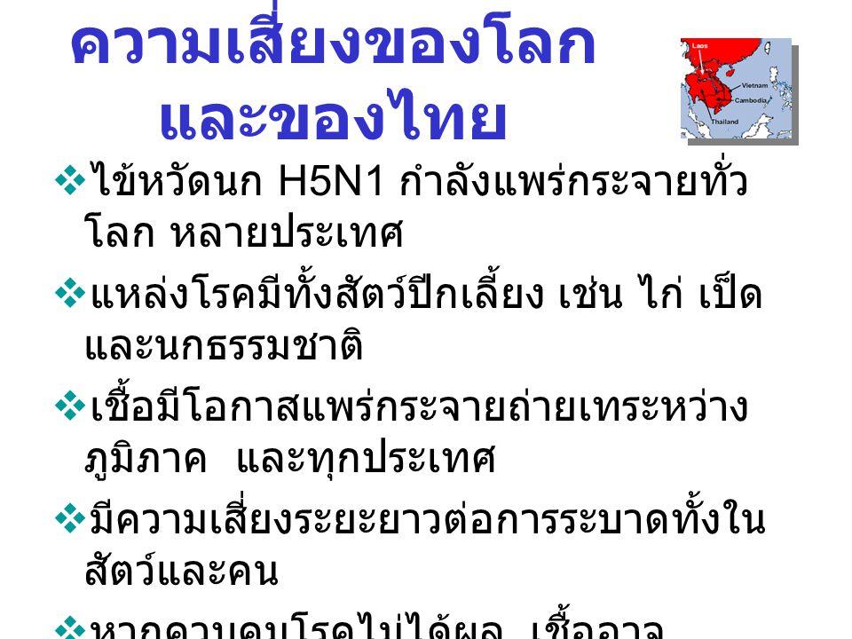 ความเสี่ยงของโลก และของไทย