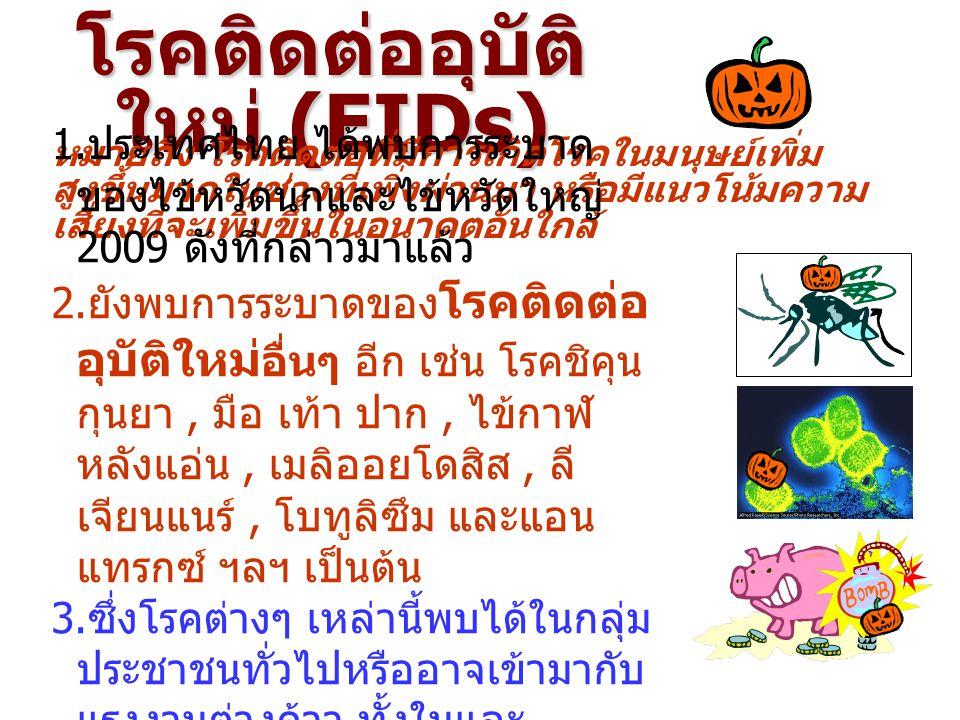 โรคติดต่ออุบัติใหม่ (EIDs)