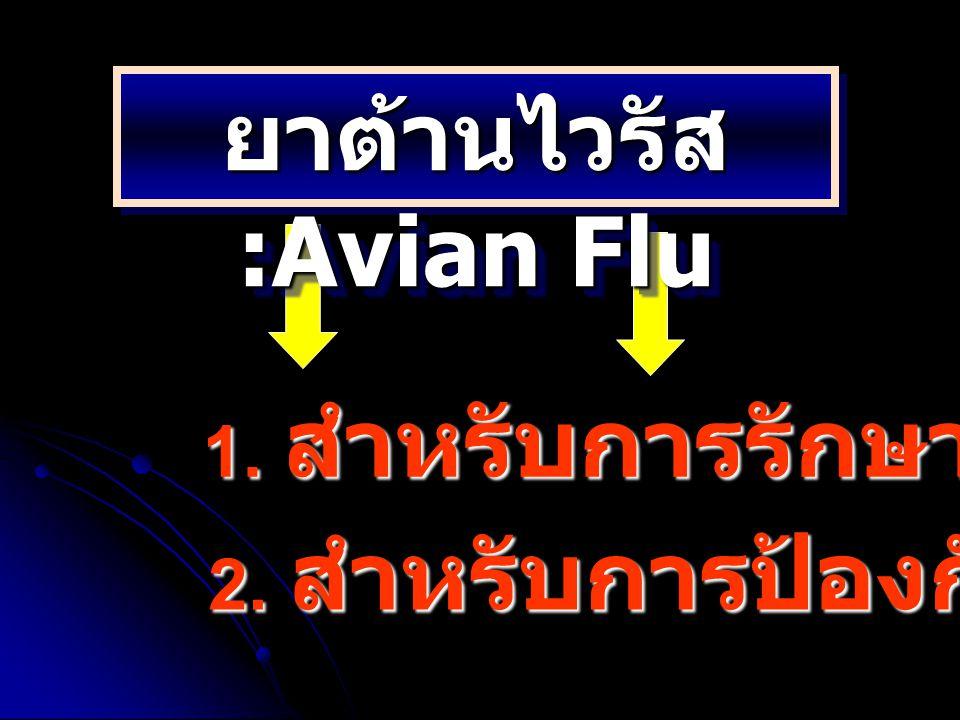 ยาต้านไวรัส :Avian Flu
