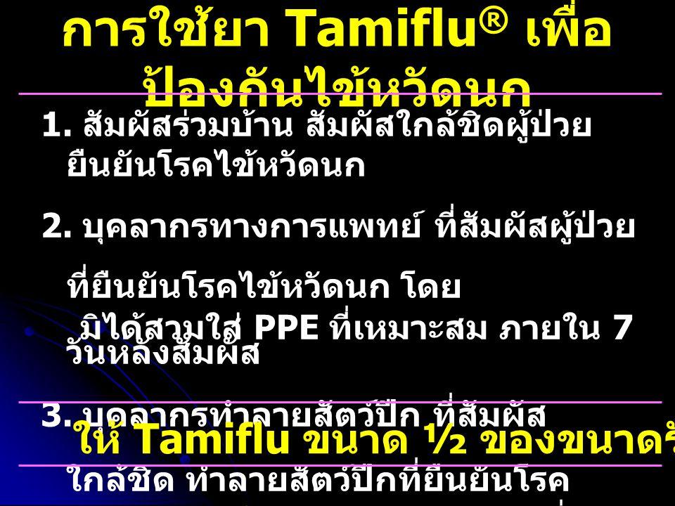 การใช้ยา Tamiflu® เพื่อป้องกันไข้หวัดนก