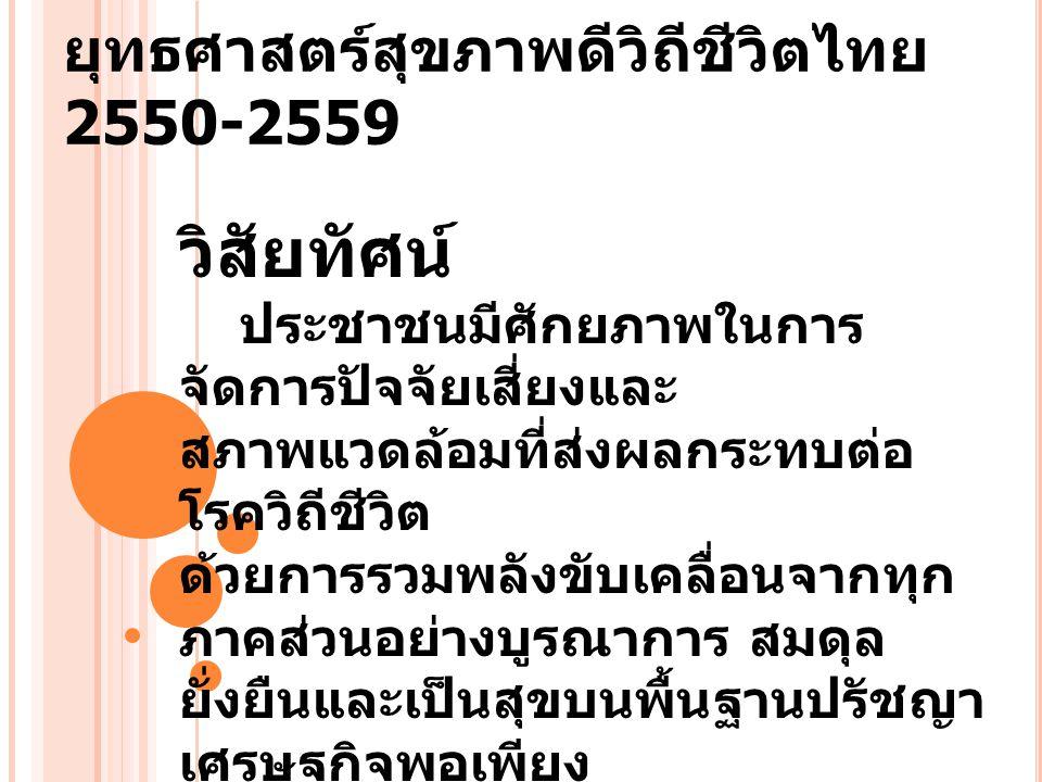 ยุทธศาสตร์สุขภาพดีวิถีชีวิตไทย 2550-2559
