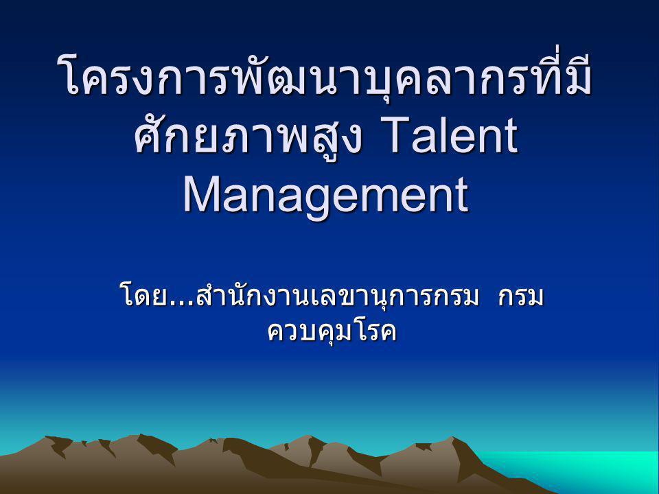 โครงการพัฒนาบุคลากรที่มีศักยภาพสูง Talent Management