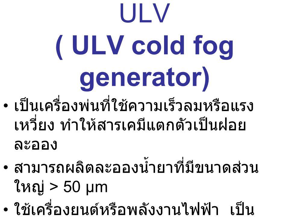 เครื่องพ่นฝอยละเอียด ULV ( ULV cold fog generator)
