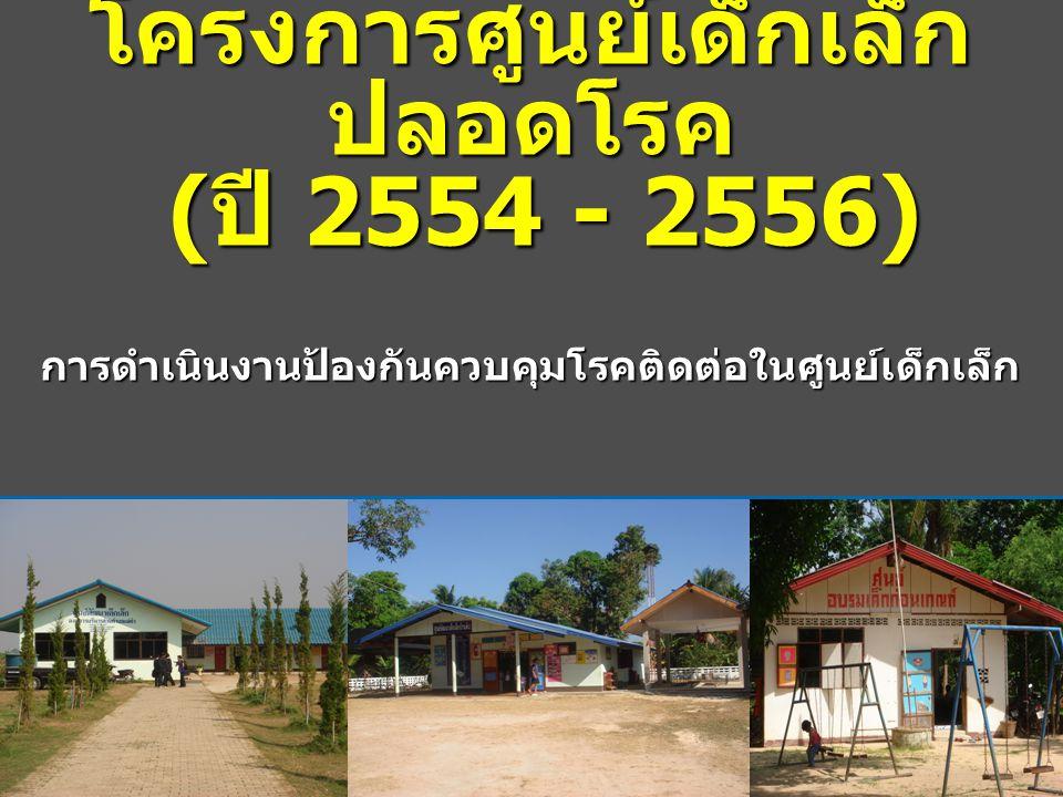 โครงการศูนย์เด็กเล็กปลอดโรค (ปี 2554 - 2556)