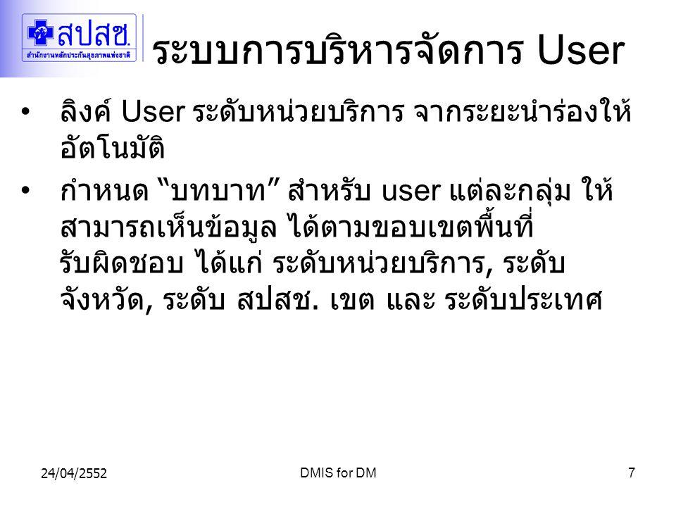 ระบบการบริหารจัดการ User