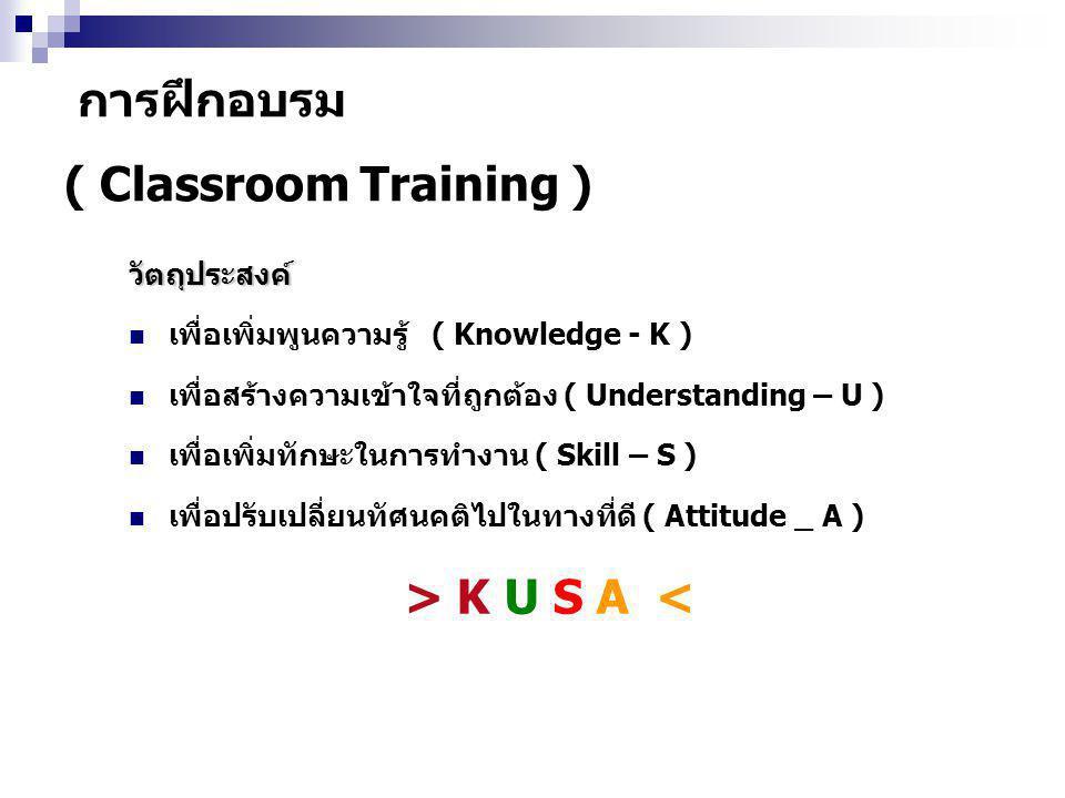 การฝึกอบรม ( Classroom Training )