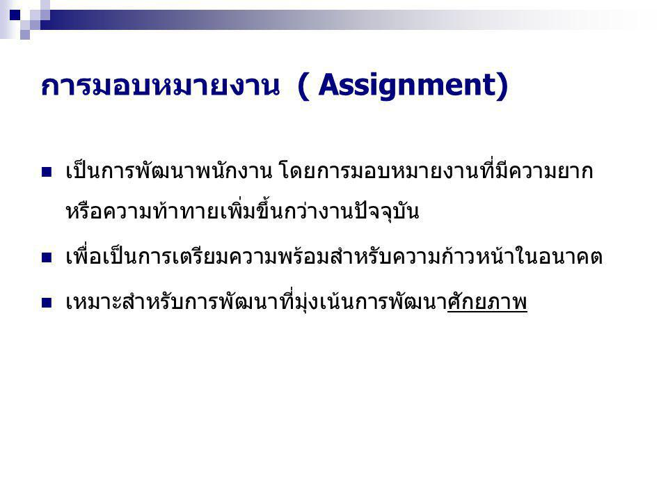 การมอบหมายงาน ( Assignment)