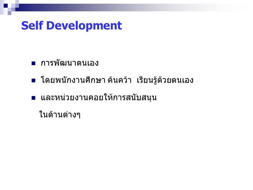 Self Development การพัฒนาตนเอง