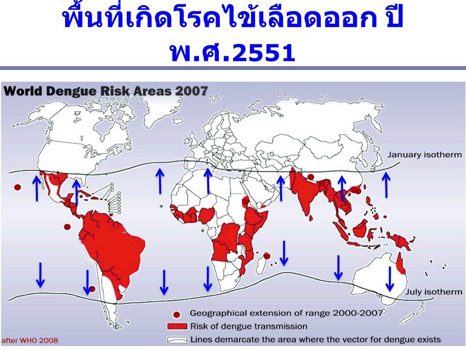 พื้นที่เกิดโรคไข้เลือดออก ปีพ.ศ.2551