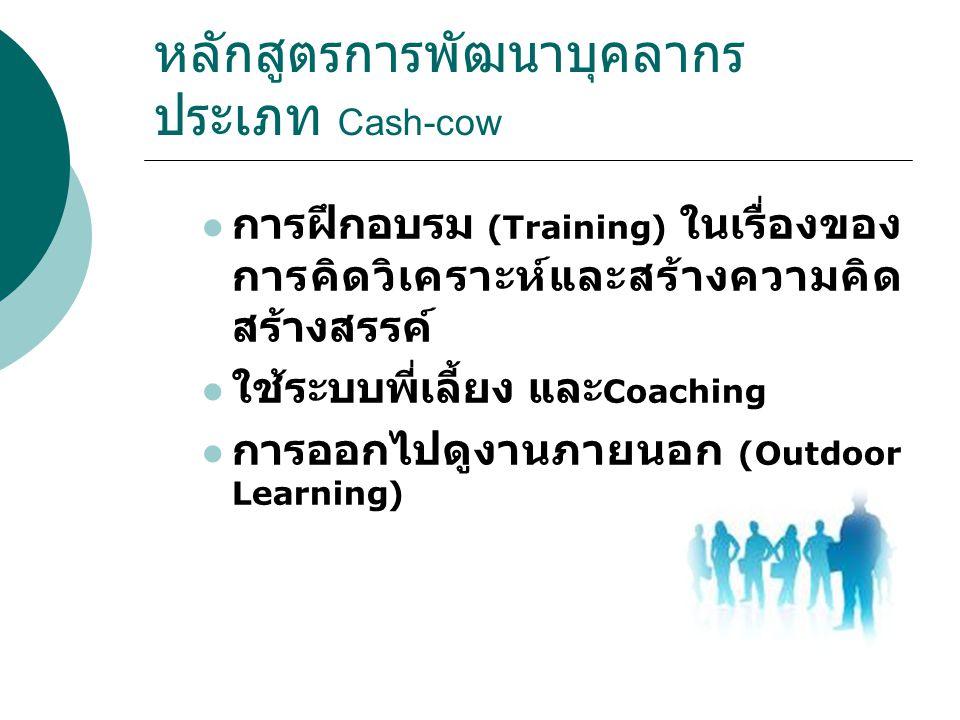 หลักสูตรการพัฒนาบุคลากรประเภท Cash-cow