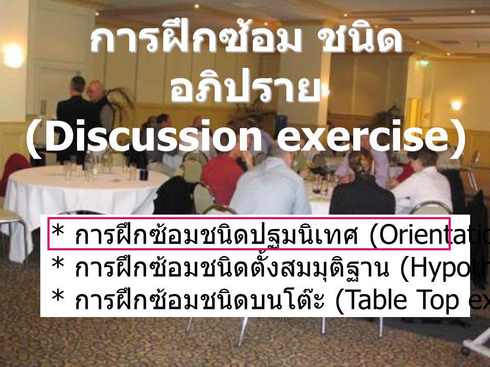 การฝึกซ้อม ชนิดอภิปราย (Discussion exercise)