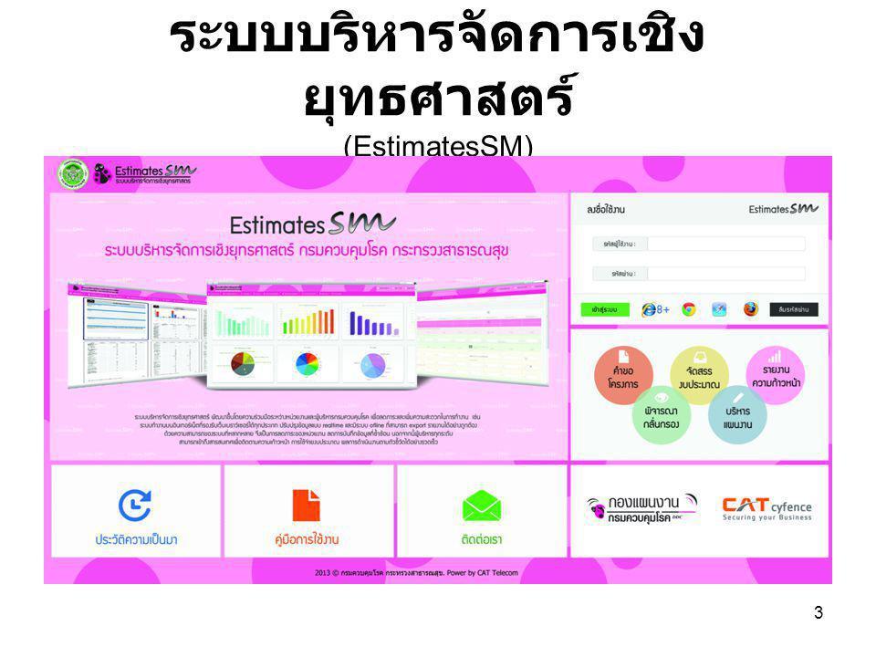 ระบบบริหารจัดการเชิงยุทธศาสตร์ (EstimatesSM)