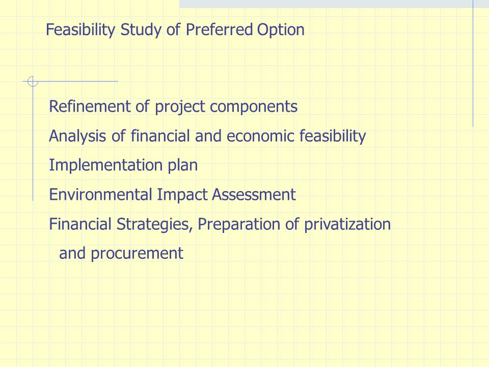 Feasibility Study of Preferred Option