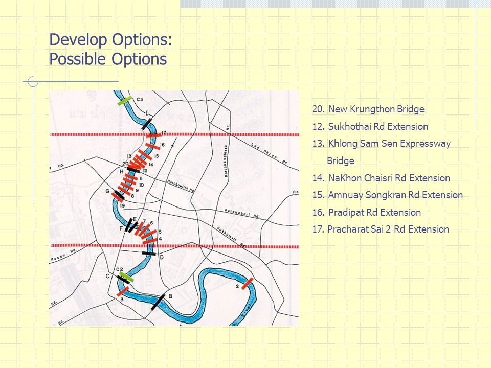 Develop Options: Possible Options 20. New Krungthon Bridge
