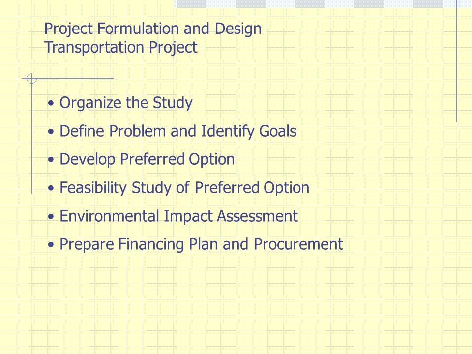 Project Formulation and Design