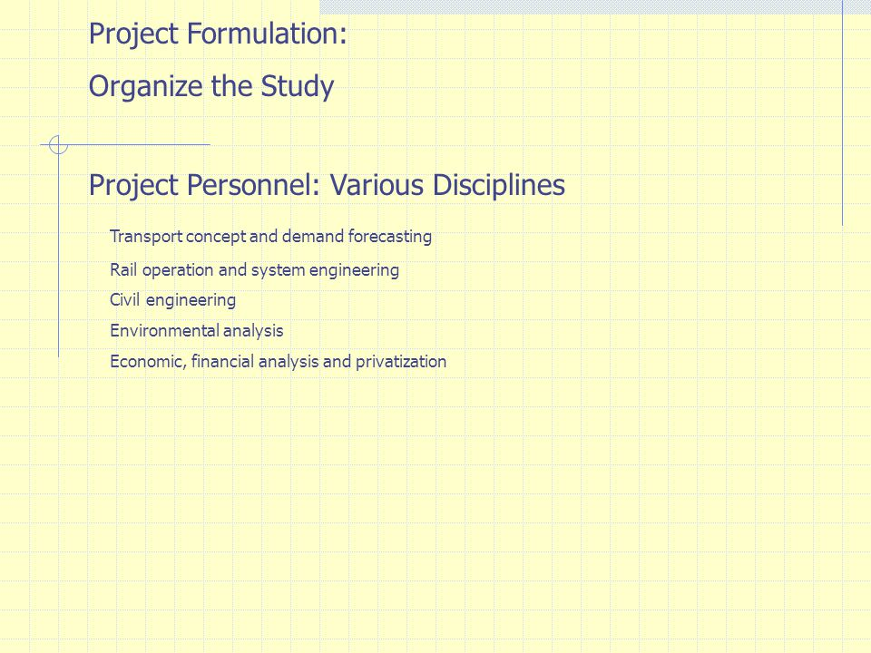 Project Personnel: Various Disciplines