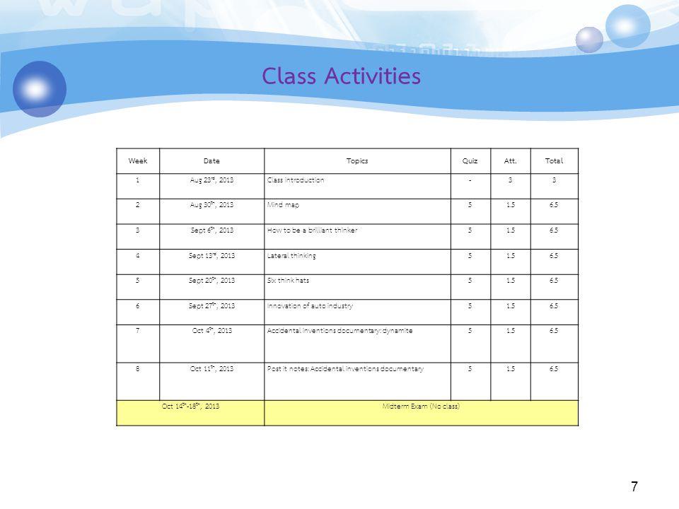 Midterm Exam (No class)