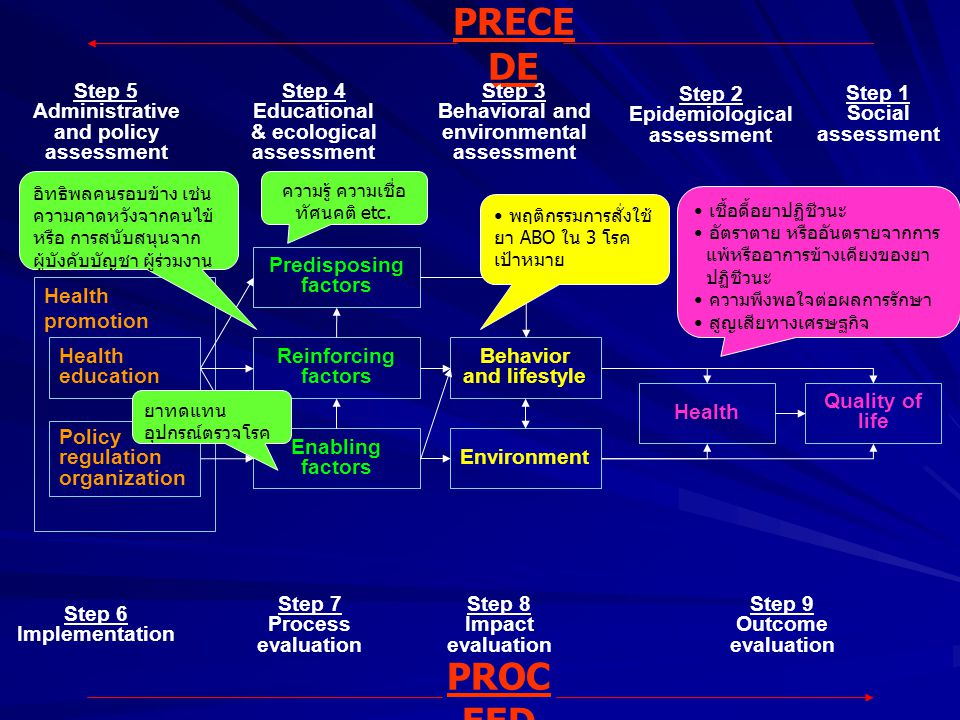 PRECEDE PROCEED Step 2 Epidemiological assessment