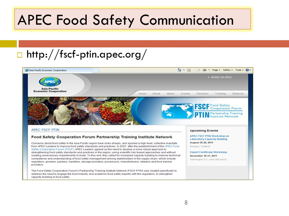 APEC Food Safety Communication