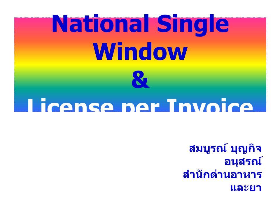 National Single Window & License per Invoice