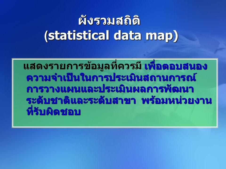 ผังรวมสถิติ (statistical data map)