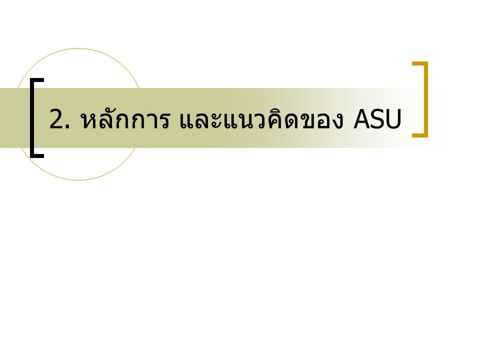 2. หลักการ และแนวคิดของ ASU