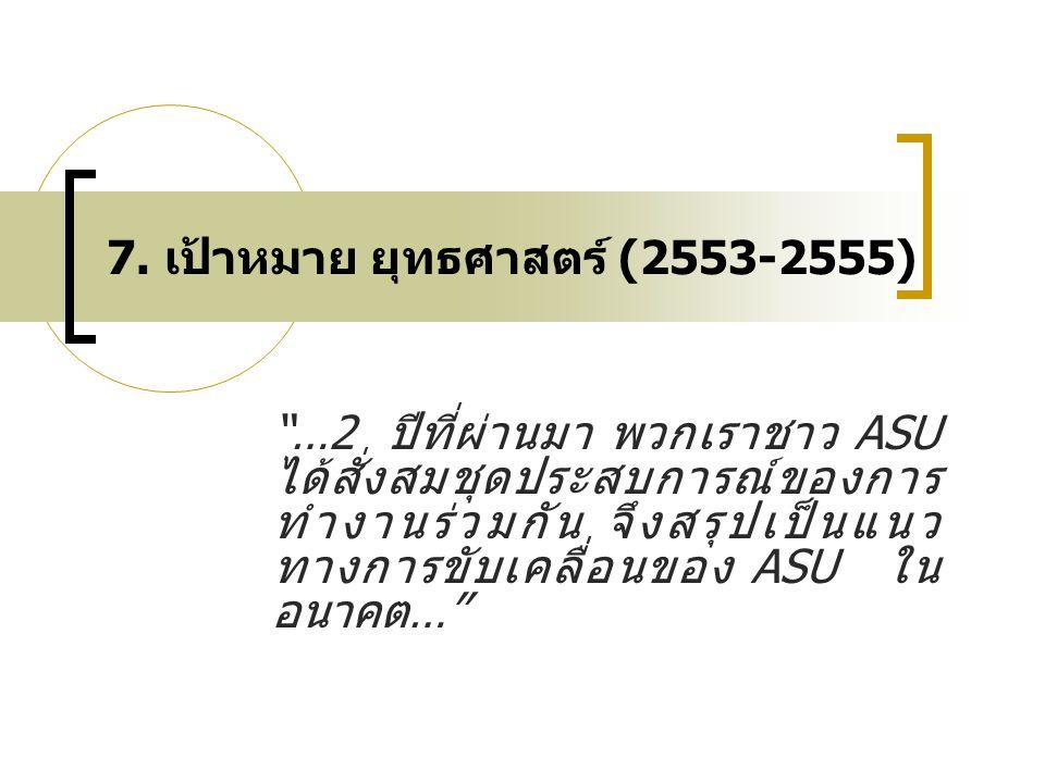 7. เป้าหมาย ยุทธศาสตร์ (2553-2555)