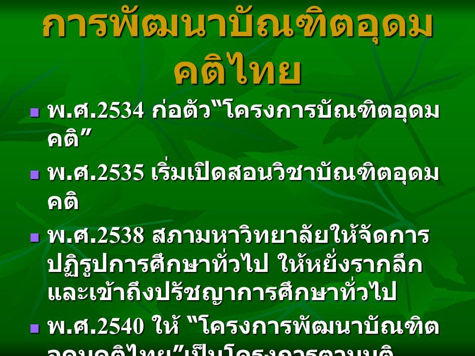 การพัฒนาบัณฑิตอุดมคติไทย
