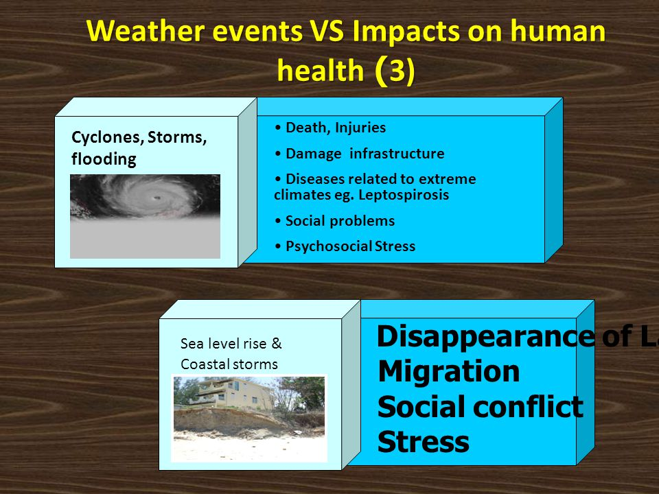 Weather events VS Impacts on human health (3)