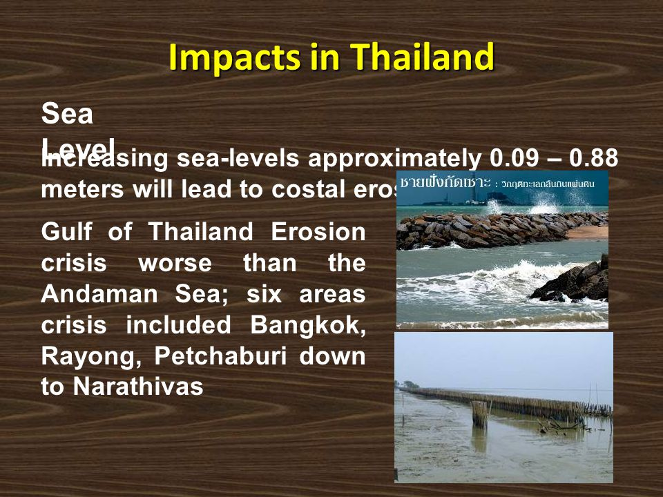 Impacts in Thailand Sea Level