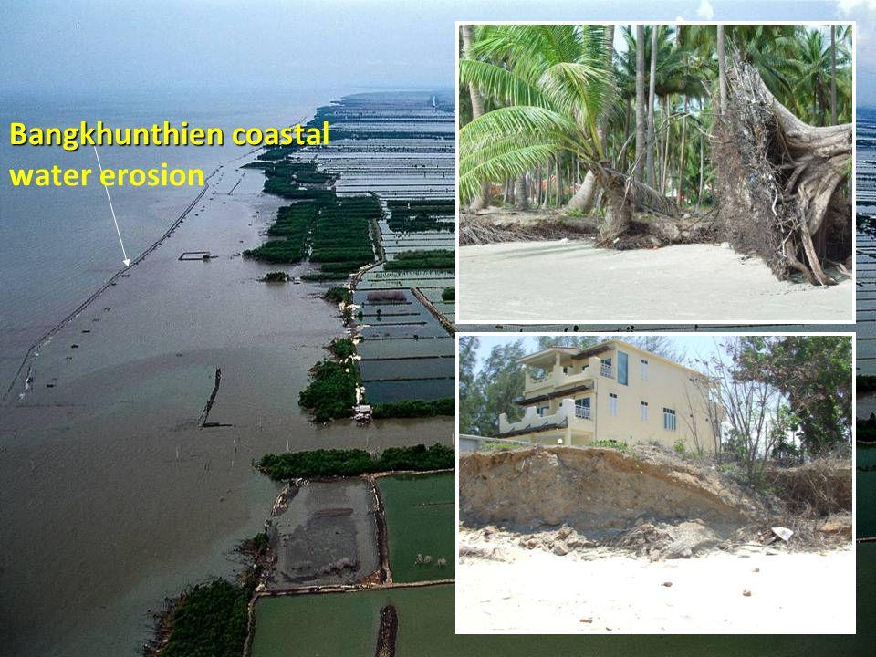 Bangkhunthien coastal water erosion
