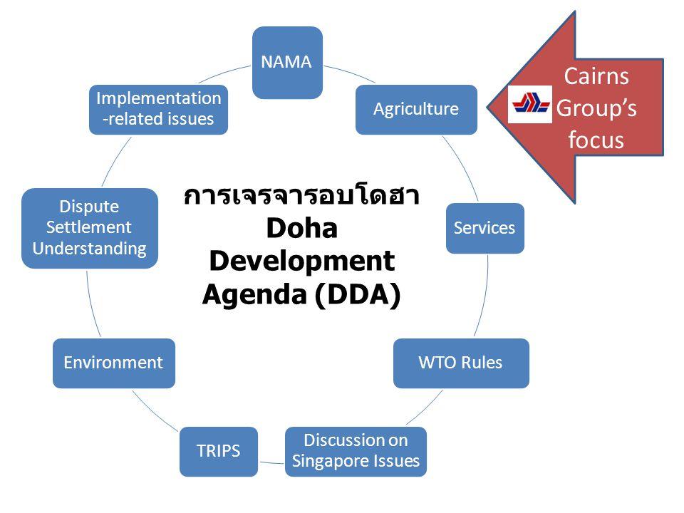 การเจรจารอบโดฮา Doha Development Agenda (DDA)