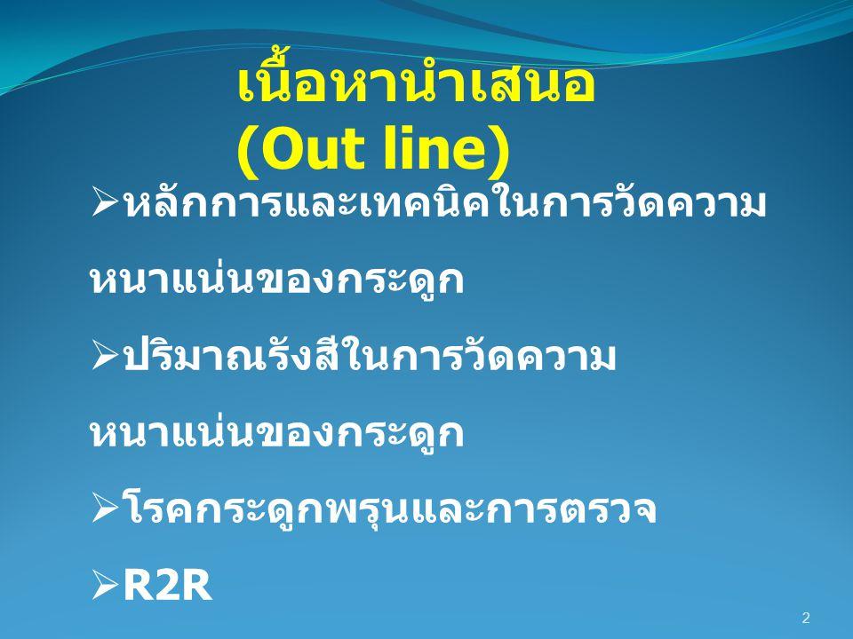 เนื้อหานำเสนอ (Out line)