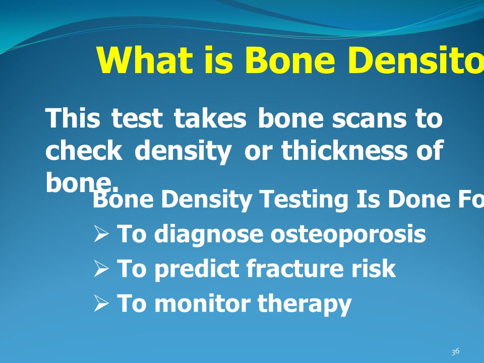 What is Bone Densitometry