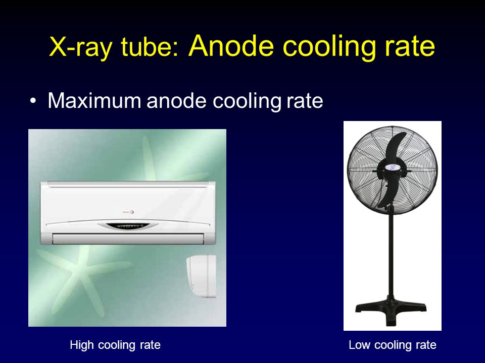 X-ray tube: Anode cooling rate