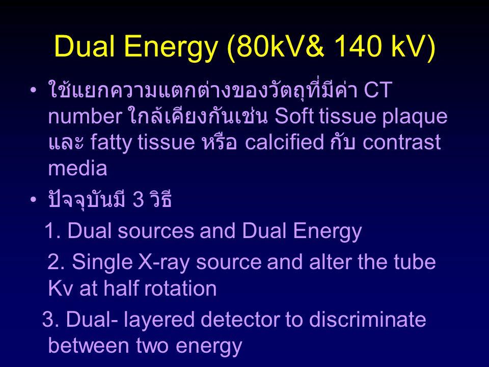 Dual Energy (80kV& 140 kV)