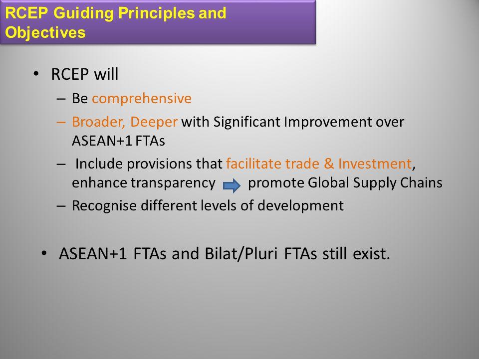 ASEAN+1 FTAs and Bilat/Pluri FTAs still exist.