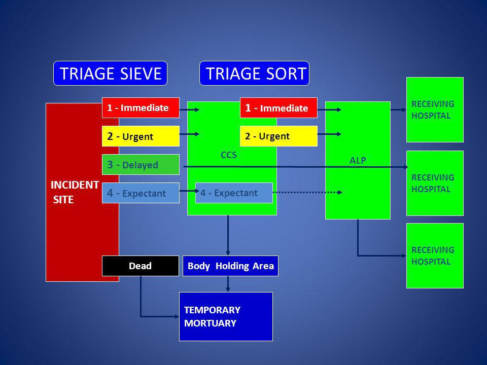 TRIAGE SIEVE TRIAGE SORT 1 - Immediate 2 - Urgent INCIDENT SITE