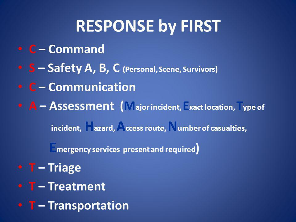 RESPONSE by FIRST C – Command