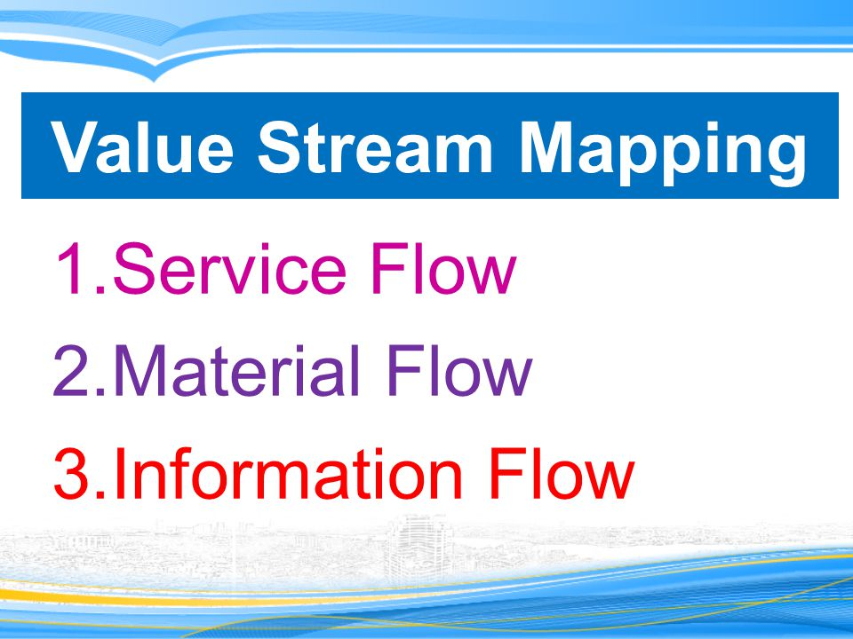 Value Stream Mapping Service Flow Material Flow Information Flow