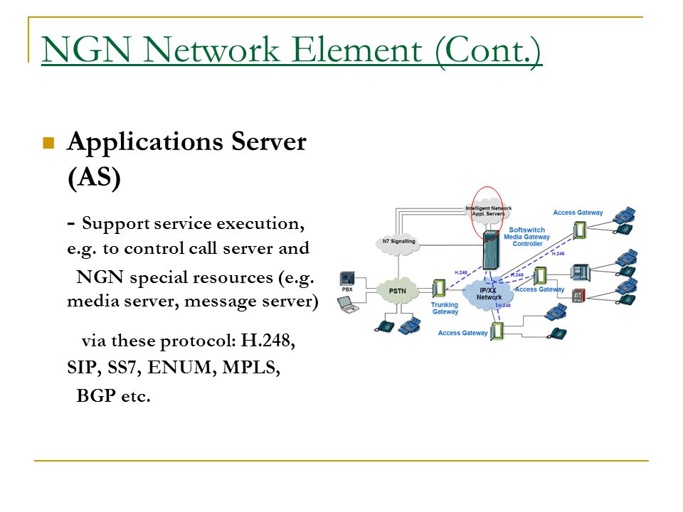 NGN Network Element (Cont.)