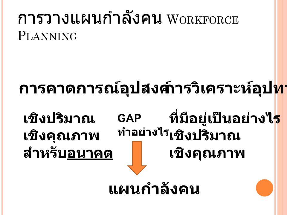 การวางแผนกำลังคน Workforce Planning