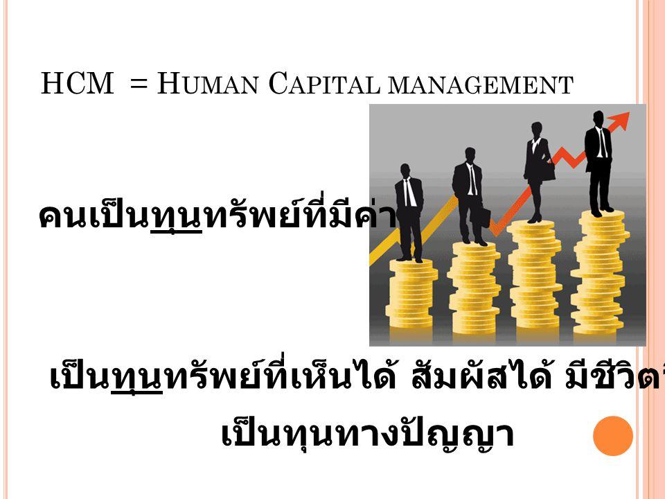 HCM = Human Capital management