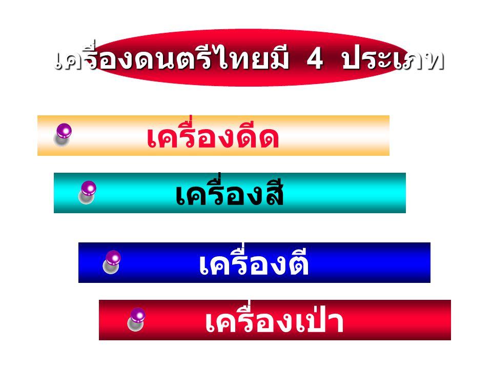 เครื่องดนตรีไทยมี 4 ประเภท