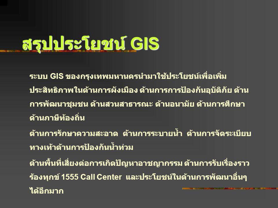 สรุปประโยชน์ GIS